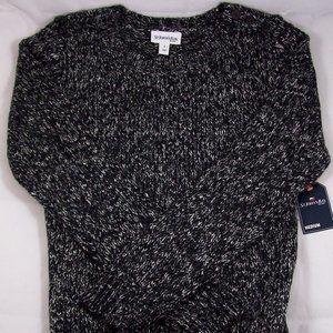 St. John's Bay Black Tweed Marled Sweater